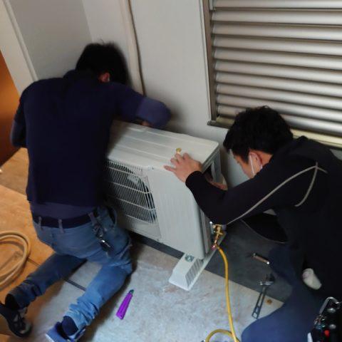 神戸市垂水区 新規エアコン取付